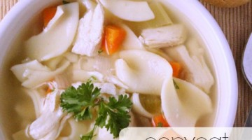 copycat panera bread chicken noodle soup square