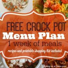 free crock pot menu plam