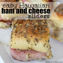 ham and cheese sliders square
