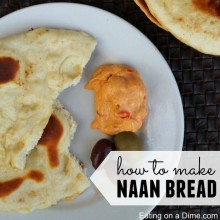 how to make naan bread - square