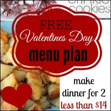 valentines day menu square