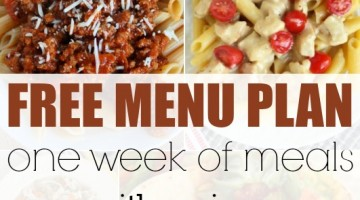 free menu plan - square