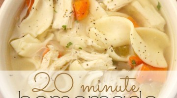 homemade chicken noodle soup square