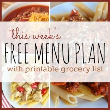 free menu plan with list square