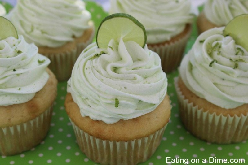 Delicious Key Lime Cupcakes - Eating on a Dime