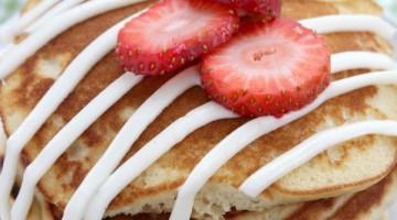 strawberry pancakes square