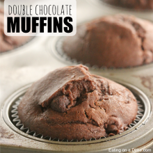 double chocolate muffins square