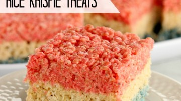 4th of July rice krispie treats square