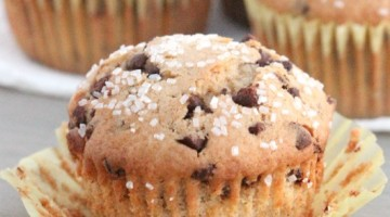 chocolate chip muffins square