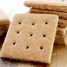 homemade graham crackers square