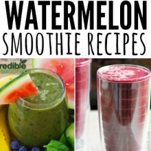 watermelon smoothie recipes - square
