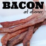 bacon at dinner square