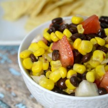 black bean salsa recipe - square
