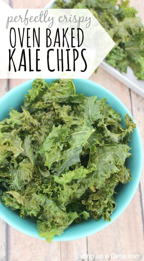 Perfectly Crispy, Oven Baked Kale Chips