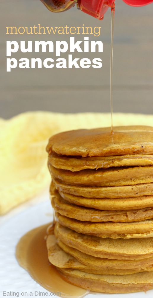 You will just love this pumpkin pancakes. Jazz up your fall breakfast with this easy pumpkin pancakes recipe. We love these Easy Pumpkin Puree recipes