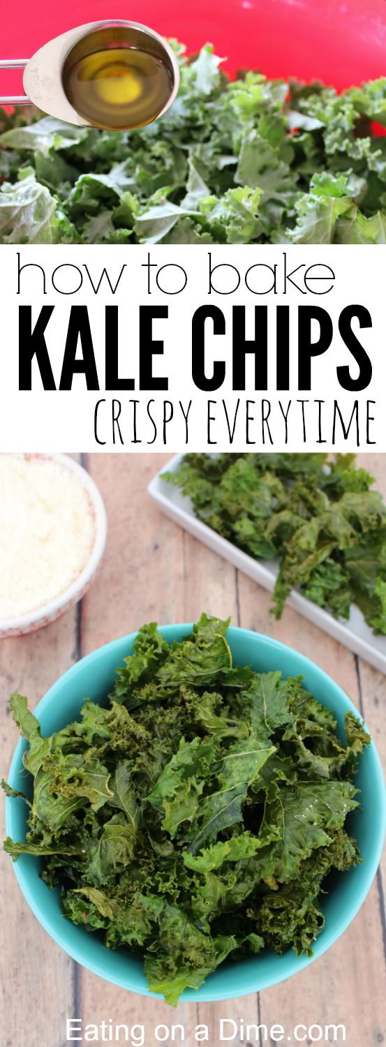 Perfectly Crispy, Oven Baked Kale Chips Recipe - Eating on ...