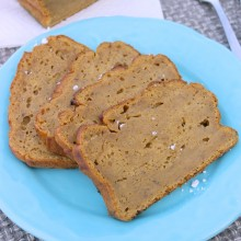 pumpkin banana bread square