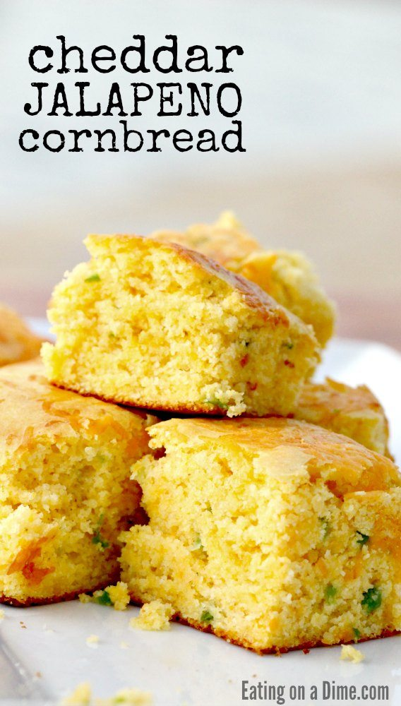 Cheddar Jalapeno Cornbread Recipe - Eating on a Dime