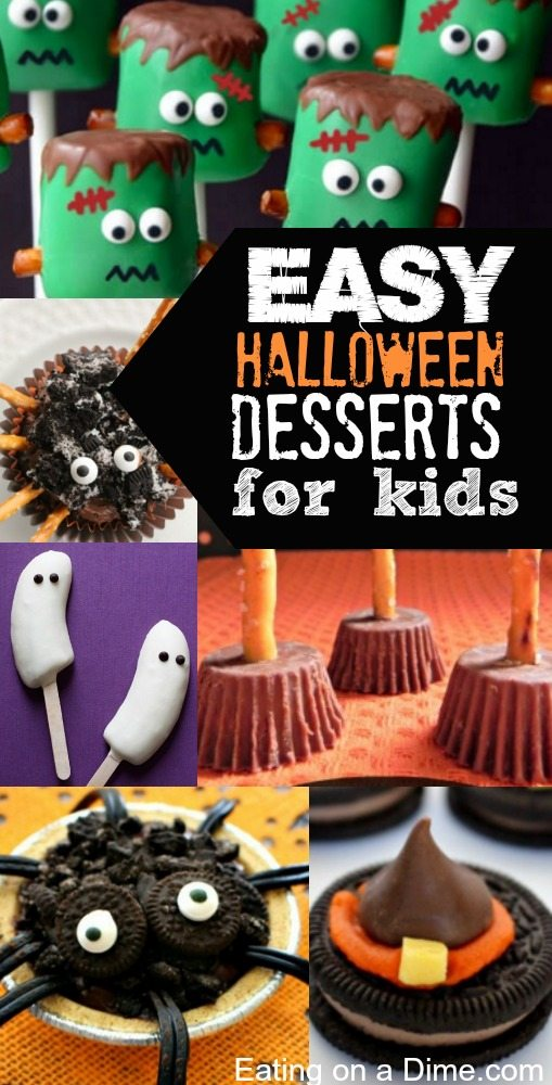 easy halloween desserts for kids eating on a dime