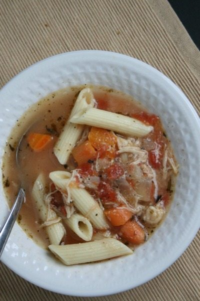 crockpot italian chicken soup is fast