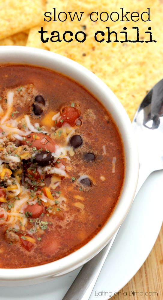 crock pot taco chili