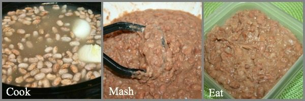 refried-beans-are so easy to make ini your crockpot