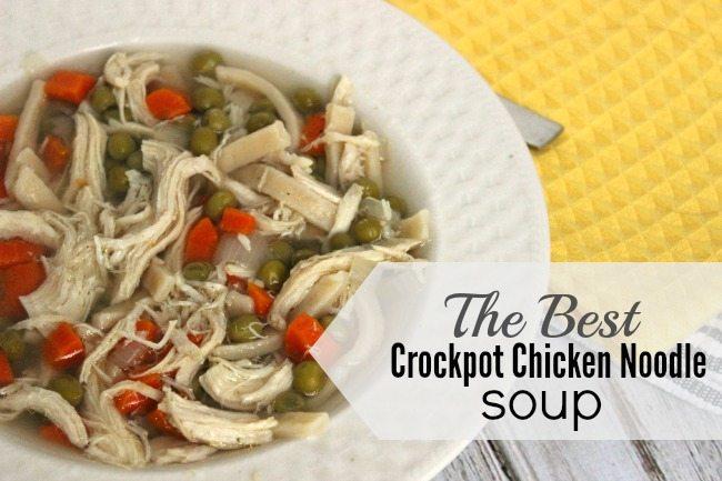 the best crockpot chicken noodle soup