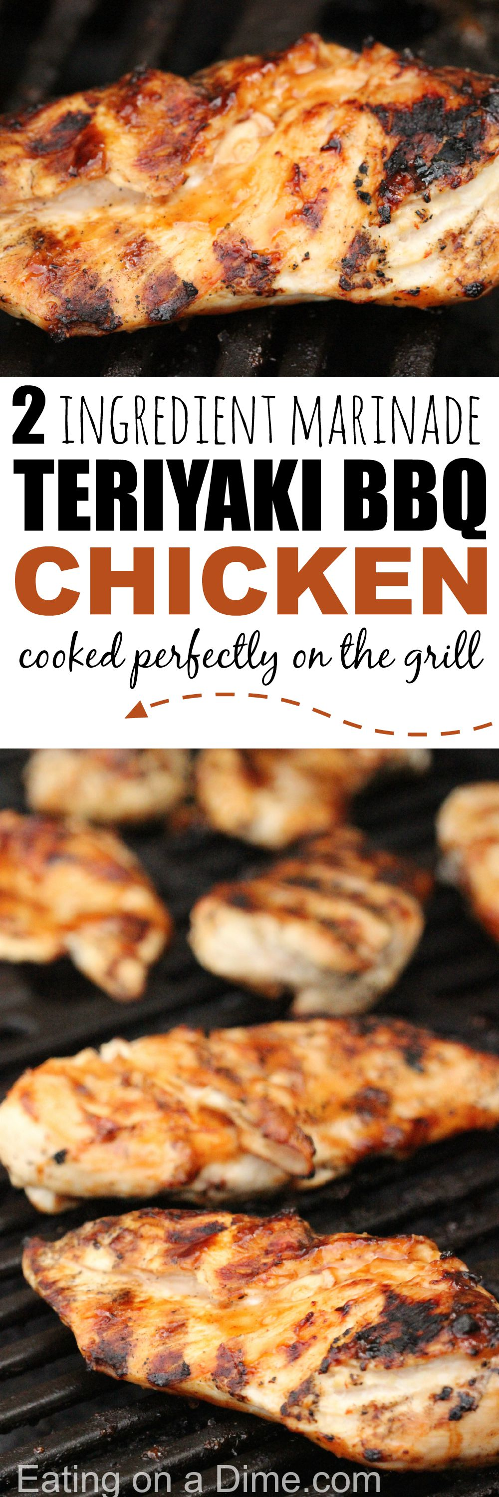 Grilled Teriyaki Chicken with BBQ - Eating on a Dime
