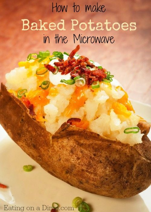 Baked Potatoes In The Microwave Are Delicous And Easy To Make