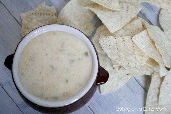 Mexican Restaurant White Queso Dip Recipe