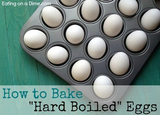 It is so easy to bake hard-boiled egged in the oven. How to make hard boiled eggs in the oven quickly. Perfect for a huge party or the holidays!