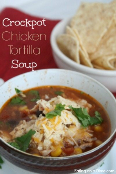 crockpot chicken tortilla soup is delicious and so easy to make