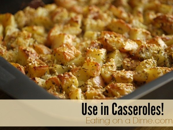 leftover baked potatoes - use in casseroles