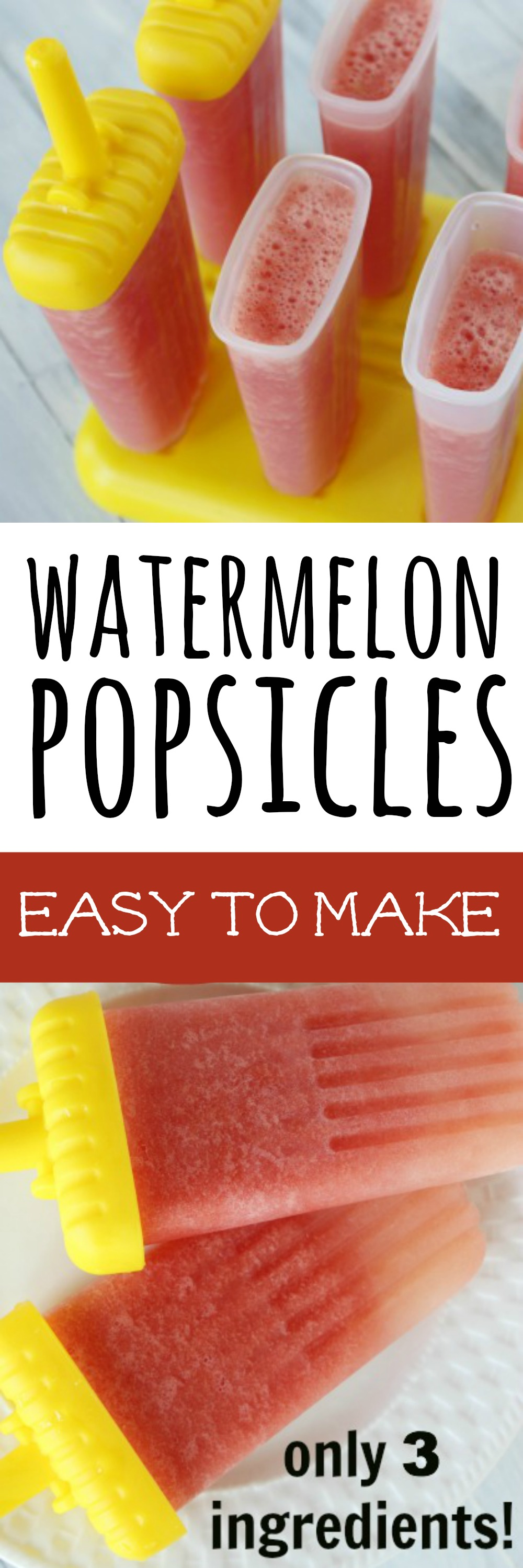 easy to make watermelon popsicles