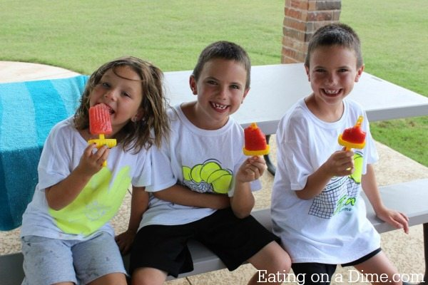 watermelon popsicles are easy to make and kids love them