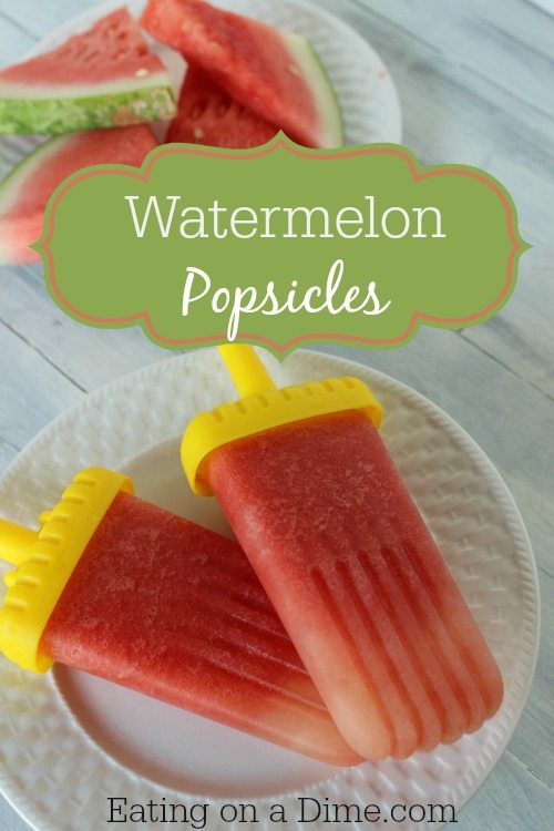 watermelon popsicles are so easy to make and the kids love them
