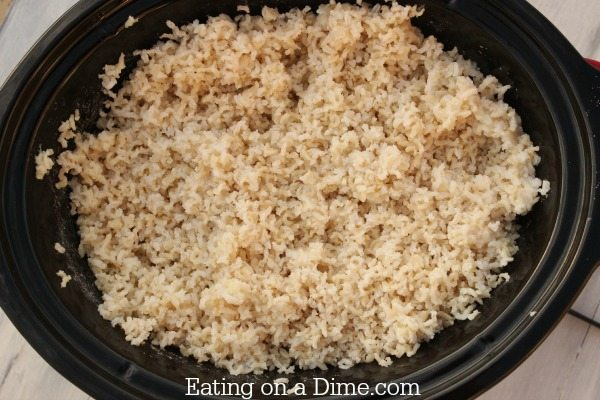 Crock pot rice recipe how to cook rice in a slow cooker eating crock pot rice all done ccuart Images
