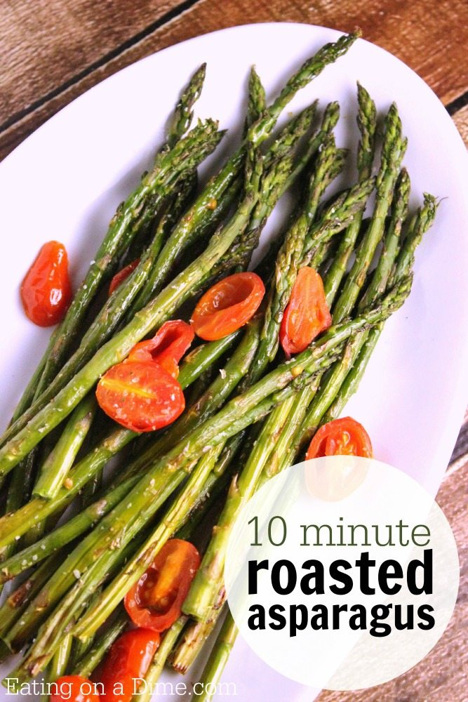 How to cook asparagus in the oven easy roasted asparagus recipe 10 minute quick and easy roasted asparagus cooking asparagus in the oven ccuart Gallery