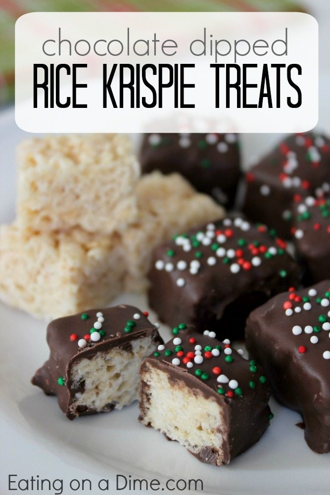try this delicious chocolate covered rice krispie treats recipe for your next christmas treats these - Rice Crispy Treats For Christmas