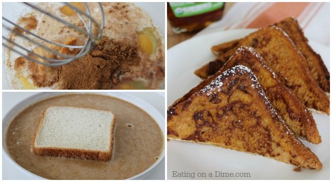 try this delicious pumpkin french toast recipe that you can make in minutes. No difficult ingredients.