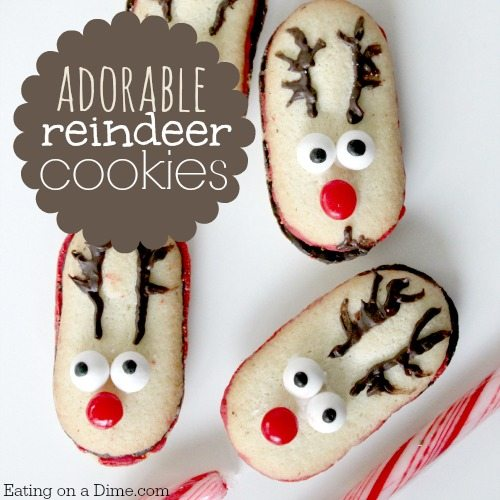 these reindeer cookies are fun but easy christmas cookies they are the perfect for christmas - Easy Christmas Cookies For Kids