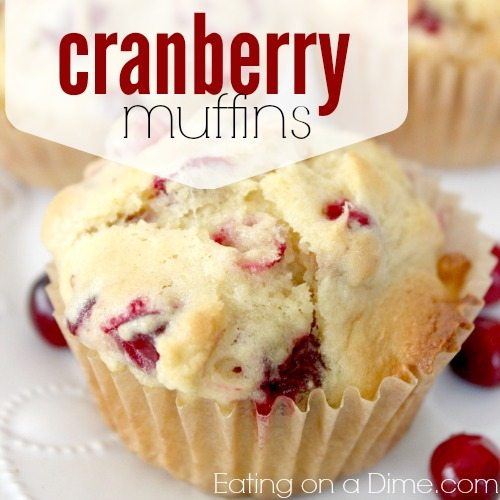 cranberry muffins are super easy to make and perfect for the holidays