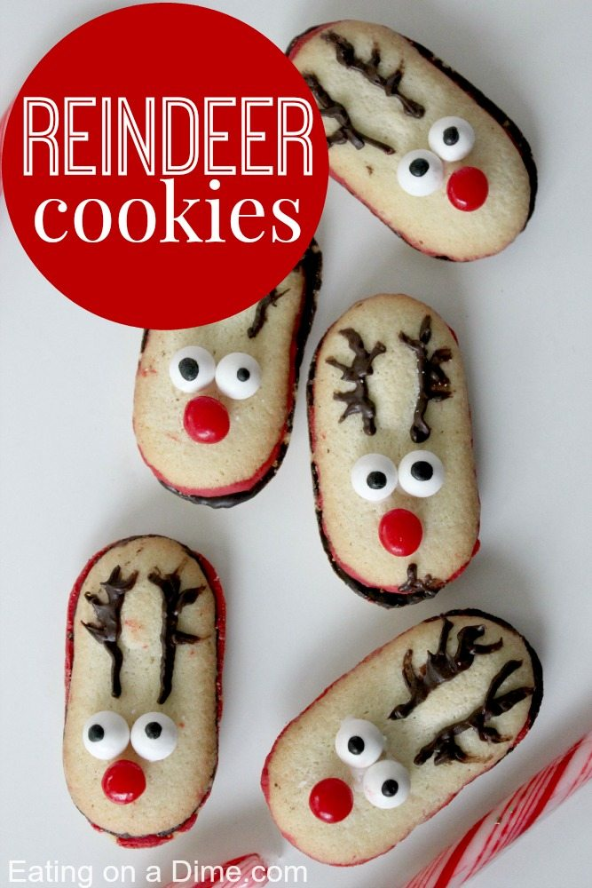 these reindeer cookies are fun but easy christmas cookies they are the perfect for christmas