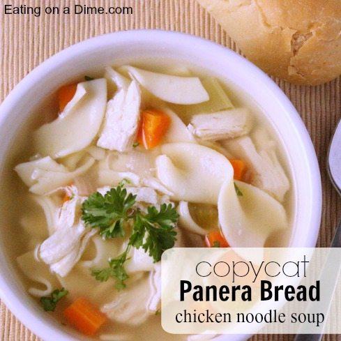 copycat panera bread chicken noodle soup square