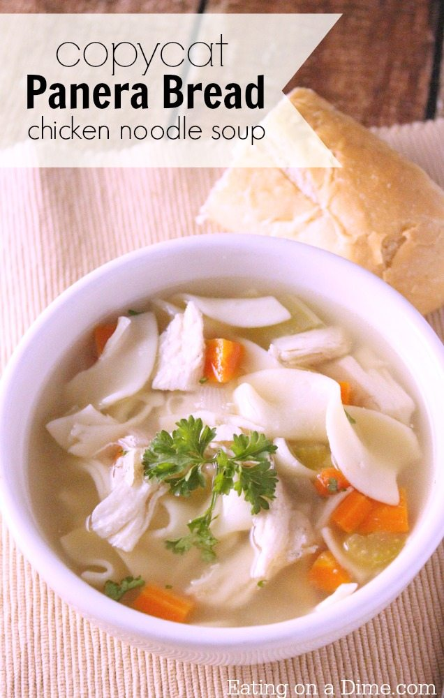 Copycat Panera Bread Chicken Noodle Soup Recipe