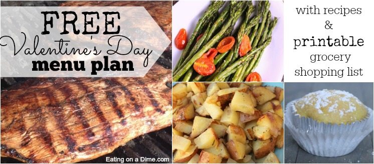 Try this delicious and budget friendly Valentines day dinner idea. Enjoy steak, potatoes and even dessert at home with very little work.