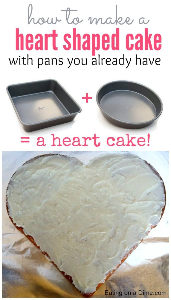 heart cake pan how to make a shaped cake on a dime 4764