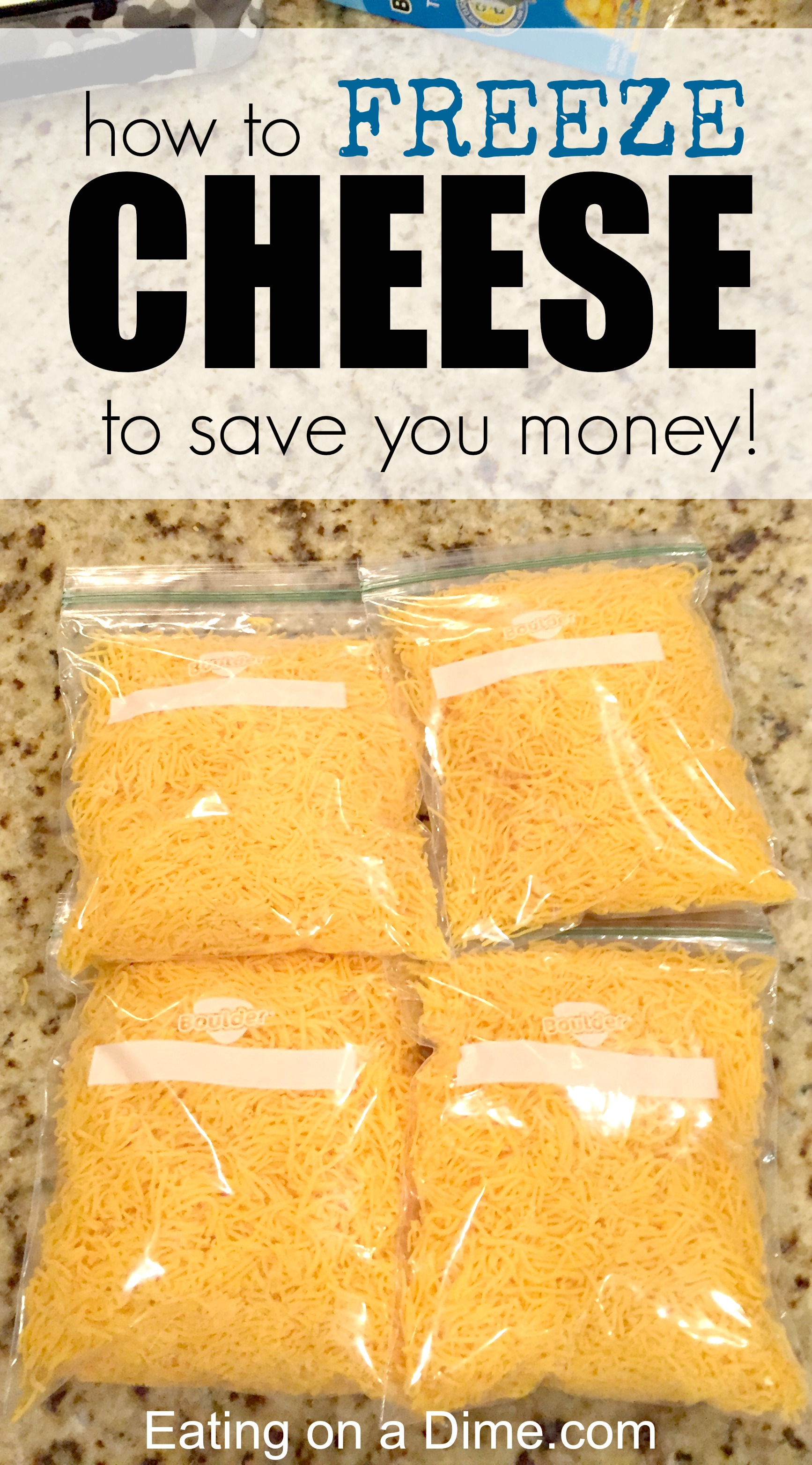 Can you freeze cheese - Learn how to freeze cheese