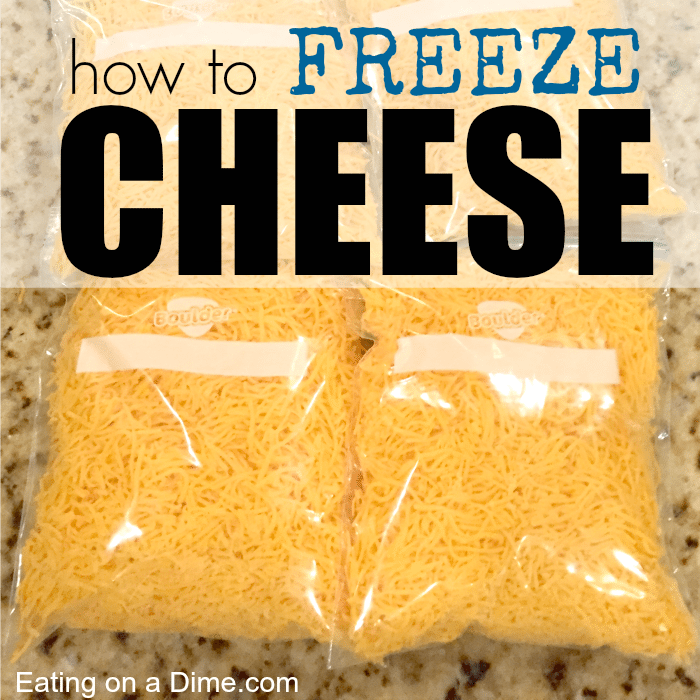 Can you freeze cheese? Yes! Learn how to freeze cheese with these simple steps. Plus freezing cheese can help you save money.
