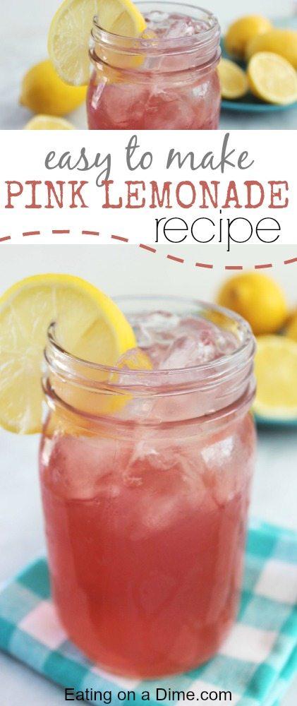 pinkl lemonade recipe